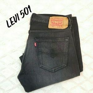 Mens Levi Vintage Wash slim straight jeans